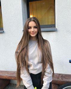 fashion, long hair, and baddie image