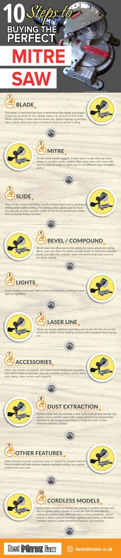 How To Find The Best Mitre Saw #Infographics