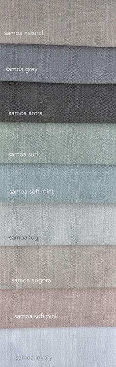 Samoa is een mooie gordijnstof met linnen. Daardoor ziet ie er mooi natuurlijk met alle praktische voordelen van polyester. Verkrijgbaar in vele kleuren. Vraag gratis stalen aan... En natuurlijk maken wij graag je gordijnen op maat voor je.