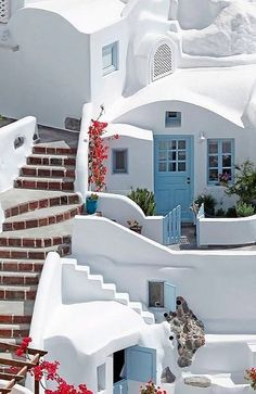 Cycladic houses, Oia,  Santorini Island, Greece | by Giorgos Tsoumpas Photography
