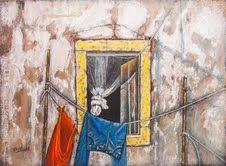 """Pilar S. Robles - """"Ropa tendida en la ventana""""  pil4rblasco@gmail.com"""
