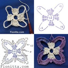 Delicadezas en crochet Gabriela: Motivos de ganchillo en hilado matizado