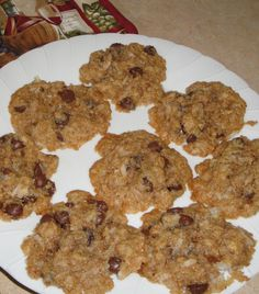 Coconut Chocolate Chip Lace Cookies
