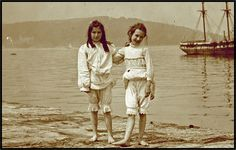 Seaside fashion in the past