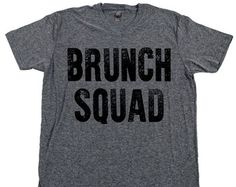 Its Sunday Funday bitches! Lets get our drunk on! This is a vintage black screen print available on a crew neck and v neck Tri-Blend Next Level boyfriend tee in Dark Heather Gray  Drew and I spent some good change and time picking out each shirt and style. I, Tabitha, am a weirdo about comfort. I legit cannot wear a shirt that itches or feels too stiff so I made sure that all of our shirts have movement so no one feels suffocated or like they got some cheap piece of crap. Tri-Blend Next…