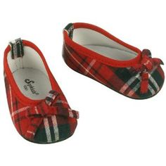 Fits American Girl Red Plaid Doll Shoes, for Doll Outfits- 18 Inch Doll Footwear by Sophia's. $5.95. Slip on fashionable Doll Shoes. Easy to dress your 18 Inch Doll & American Girl doll, with these perfect fit ballet shoes. Made by Sophia's, Leading Doll Clothes & Accessory Maker. Red Plaid, stylish yet classic. Dress your favorite doll from head to toe with Sophia's High Quality Doll Clothes Collection. These popular stylish, yet classic, red plaid doll shoes will be a g...