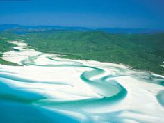 Whithaven Beach in Australia.  Sailing through the Whitsunday Islands is near the top of my Bucket List!