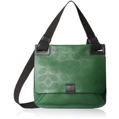 Orla Kiely Sixties Stem Punched Leather Ivy Shoulder Bag