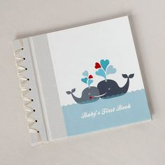Baby's First Book by Rag and Bone Bindery - Whale