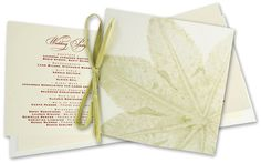 Leaf Wedding Ceremony Program from 3Muse Press (InviteSite).