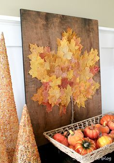 Over 50 DIY craft and decoration ideas for autumn - simple and inexpensive - for creative juiceFall bucket list. Great autumn crafts for kids this season! And also be a creative decoration project that extends Autumn Leaves Craft, Autumn Crafts, Autumn Art, Autumn Theme, Diy Autumn, Spring Crafts, Leaf Projects, Fall Projects, Diy Projects
