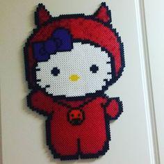 Halloween Hello Kitty hama beads by kaptenfuckinhowdy