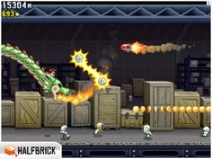 Jetpack Joyride. Most addictive iPad game. Stay away if you like productivity.