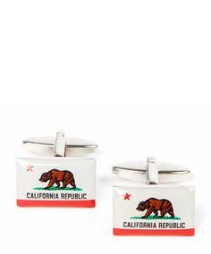California cufflinks...we love it here. $50