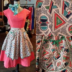 Cute little 1950's pinny in excellent condition, £17 inc p&p. 1242d.