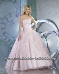 Exklusives Abendkleid Ballkleid in Rosa
