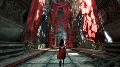 This background of American McGee's Alice: Madness Returns sets a heavy dark background. The details are made to make the character seem small and out of place. Alice Madness Returns, Dark Alice In Wonderland, Adventures In Wonderland, Grand Hall, Electronic Arts, Alice Liddell, Alice Tea Party, Fanart, Victorian London