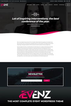 Build any event website, including countdowns and event maps, pricing plans, speakers, venues and more. Fully customizable with 14+ color pickers, 4 font pickers, logo uploaders, fresh design effects and 12 ready-to-use home page templates included.    #professional #events #conference #speaker #coach #venues #wordpress #theme #website #business #entertainment