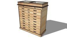 3D Model of cabinet, maisons du monde, ref 129775 prix 989€