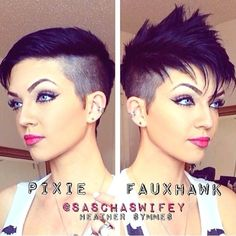 Check out @saschaswifey s pixie to faux hawk styling tutorial on YouTube! (Link