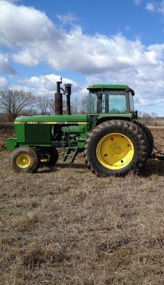John Deere tractor in the field