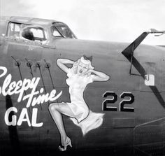 """Sleepy Time Gal"" Nose Art - My Ideas & Suggestions Nose Art, Rockabilly, License Plate Art, Aircraft Painting, Airplane Art, Pin Up Photography, Military Art, Military Pins, Military History"