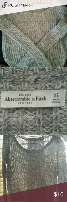 Sweater XS Grey Abercrombie & Fitch Crop Sweater. No flaws, like new! Abercrombie & Fitch Sweaters