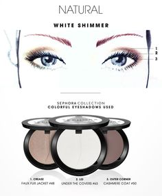 COLORFUL: Natural White Shimmer HOW-TO #SephoraCollection #Sephora #Makeup
