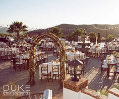 The beautiful Santa Susana Mountains serve as the backdrop for this outdoor SoCal wedding.
