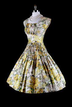 Vintage 50s garden party dress