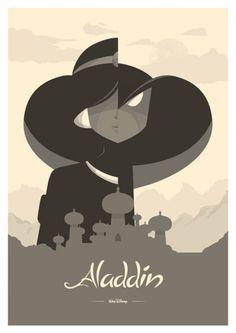 minimalist movie poster - aladdin