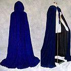 Lined Blue Velvet Cloak Cape Wedding Wicca...