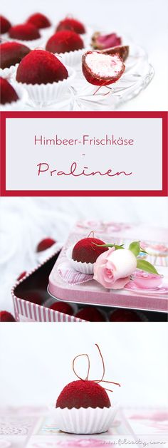 Himbeer-Pralinen: Schokoladige Liebesgeschenke mit Vitamix Personal, romantic, delicious – These homemade raspberry chocolates are not only a treat, but also a pretty Valentine's Day gift. Torte Au Chocolat, Chocolates, Fudge, Cookie Recipes, Snack Recipes, Naked Cakes, Easy Smoothie Recipes, Cinnamon Cream Cheese Frosting, Le Diner