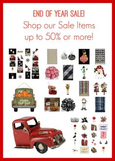 End of Year Sale! Christmas and Holiday Decor off and more! Holiday Sales, Holiday Decor, Happy Fall Y'all, End Of Year, Sale Items, Christmas, Shopping, Xmas, Weihnachten