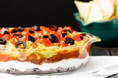 Mexican 7 Layer Dip | Bring this chip dip to your next potluck or party!