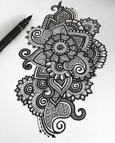 Pin by madhumitha k on beatiful doodle art, mandala drawing, art. Mandala Art, Mandalas Painting, Mandalas Drawing, Mandala Doodle, Doodling Art, Easy Mandala Drawing, Paisley Doodle, Henna Mandala, Black Pen Drawing