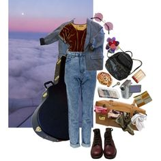 traveling musician by confuseme on Polyvore featuring Madewell, Isabel Marant, Boohoo, Chanel, ArtBin and KING