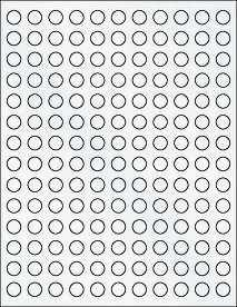 """Clear Matte Inkjet - 0.5"""" Circle Half Inch Round Labels"""