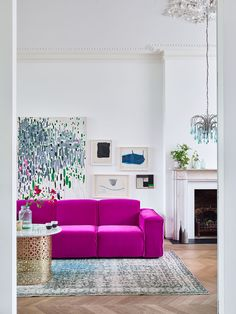 Crawford Sofa Range Spring into Spring - love the bright colour pop here! Bright homes - home goals - interior design - inspiration - pink - Magenta