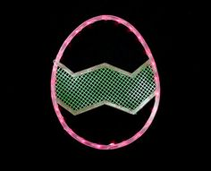 Impact Lighted Pink and Green Easter Egg Window Silhouette Decoration 165 *** Details can be found by clicking on the image.