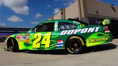 Patrick's Day, enjoy some of the most memorable green paint schemes in NASCAR history. Nascar Crash, Nascar 24, Nascar Party, Nascar News, Nascar Race Cars, Jr Motorsports, Jeff Gordon Nascar, Nascar Champions, Plastic Model Cars