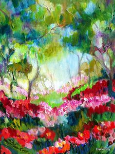 QUIET FORREST  14 x 18 Fine Art by Elaine Cory by ElainesHeartsong,
