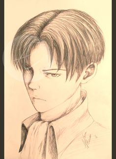 Levi Ackerman Attack on Titan Semi-realist portrait