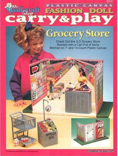 Fashion Doll Carry & Play GROCERY STORE Plastic by CHpatterns