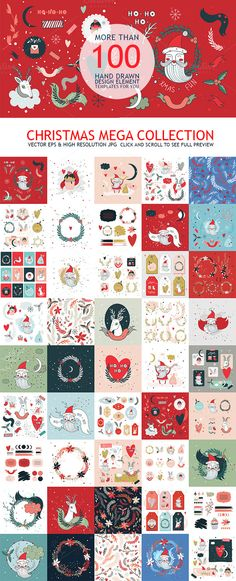 Christmas Mega Collection Hand Drawn by Anttoniu on Creative Market