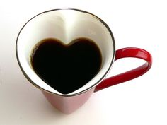 Platinum mug heart mug cup