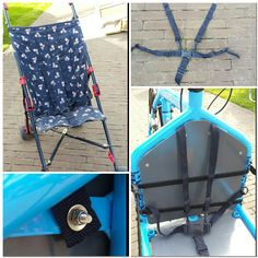 Selfmade Bullitt seatbelt form a Buggy! Bullitt Cargo Bike, Dog Bike Trailer, Push Bikes, Blue Bird, Four Square, Baby Strollers, Projects To Try, Bicycle, Knitting