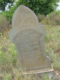 Image of Maria Gloudina Visser, taken in North West, VENTERSDORP district, Roodekop farm cemetery.