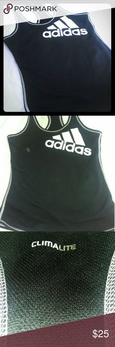 Adidas- Climalite active wear. L My Adidas , I love it ,it's always been cool ..  Woman's active wear razorback tank . Large . adidas Tops Tank Tops
