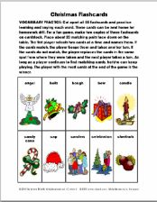 Christmas Flashcards Vocabulary Exercise 4 Pages - pinned by @PediaStaff – Please Visit ht.ly/63sNtfor all our pediatric therapy pins